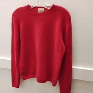 LL Bean red sweater